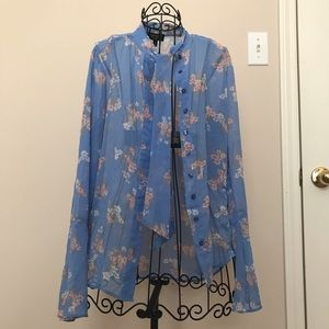 Juicy couture floral blouse